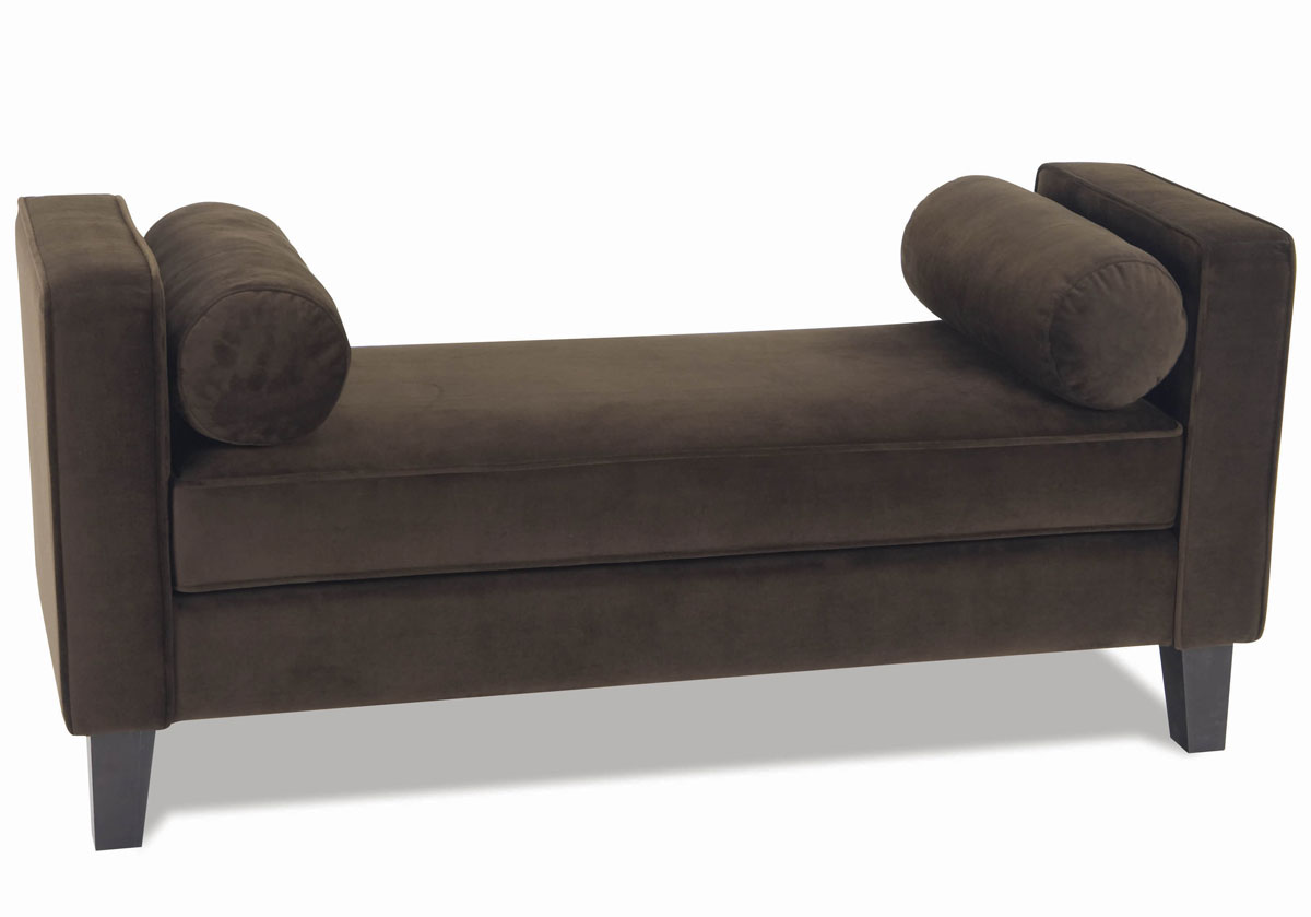 Avenue Six Curves Chocolate Velvet Bench