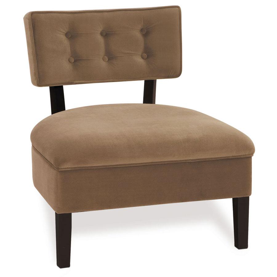 Avenue Six Curves Button Back Chair – Mocha