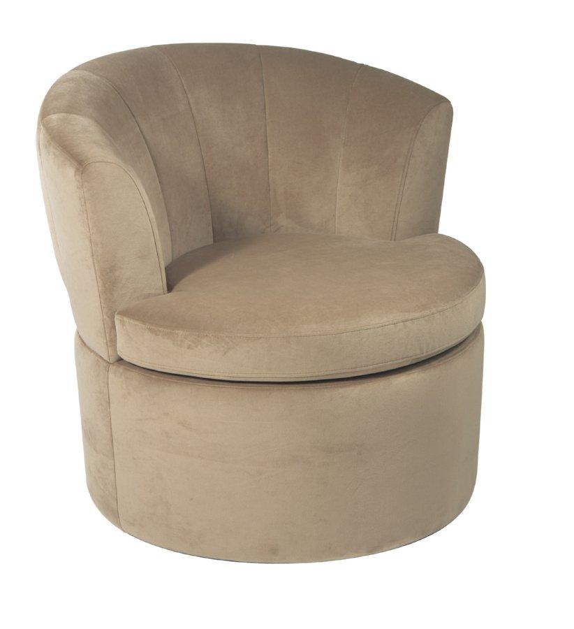 Avenue Six Curves Barrel Chair - Coffee Velvet