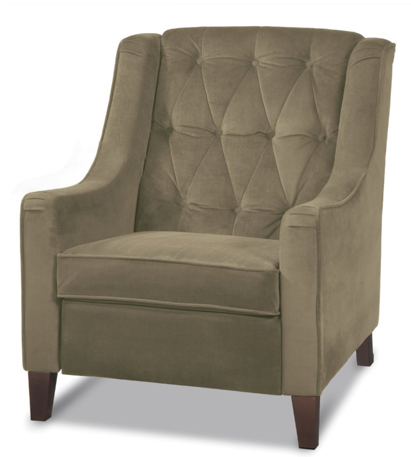 Avenue Six Curves Tufted Chair - Coffee Velvet