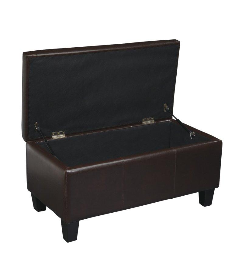 Avenue Six Detour Storage Bench - Espresso Bonded Leather