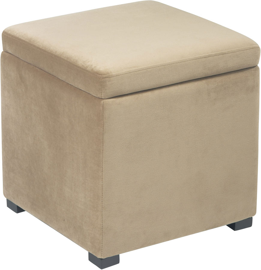 Avenue Six Detour Storage Cube Ottoman with Tray - Coffee - Avenue Six Detour Storage Cube Ottoman With Tray - Coffee DTR817