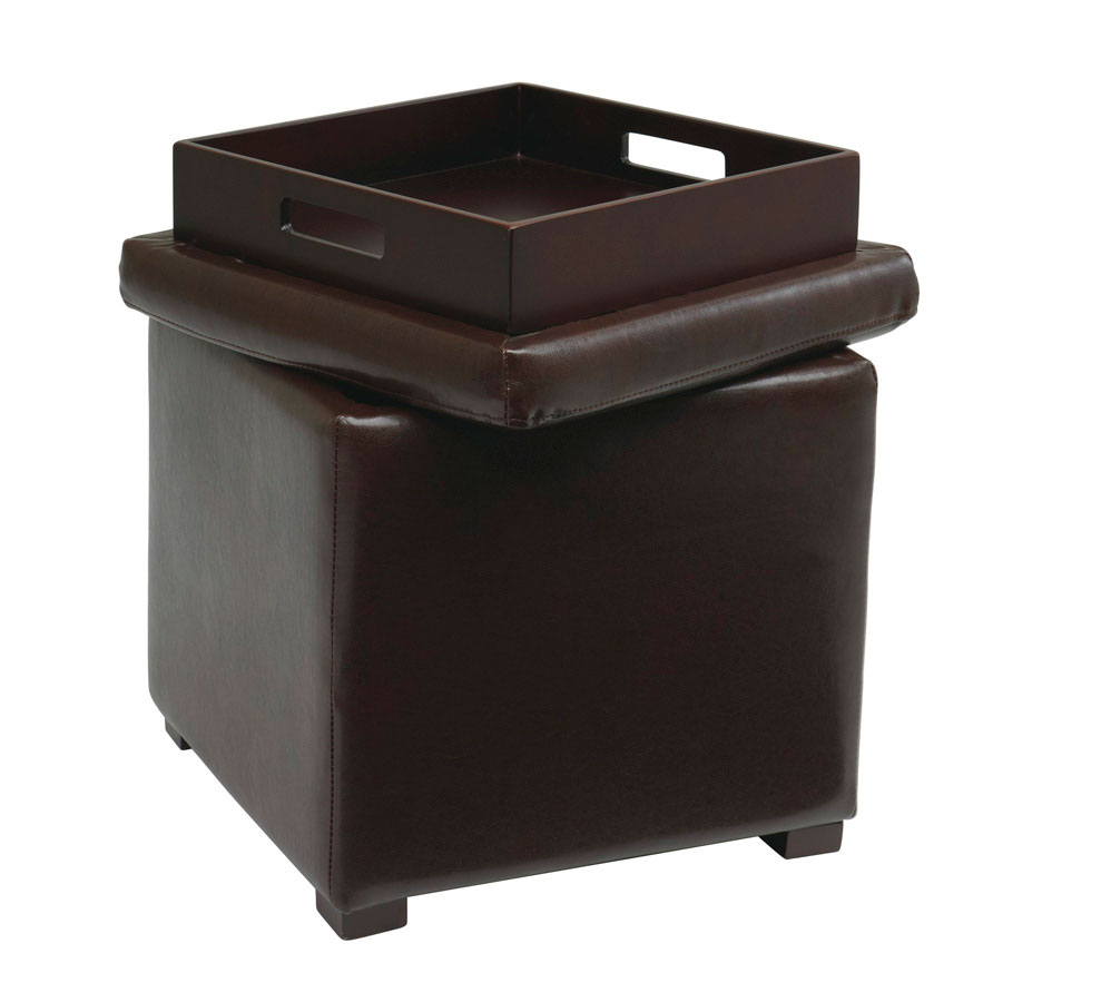 avenue six detour storage cube ottoman with tray