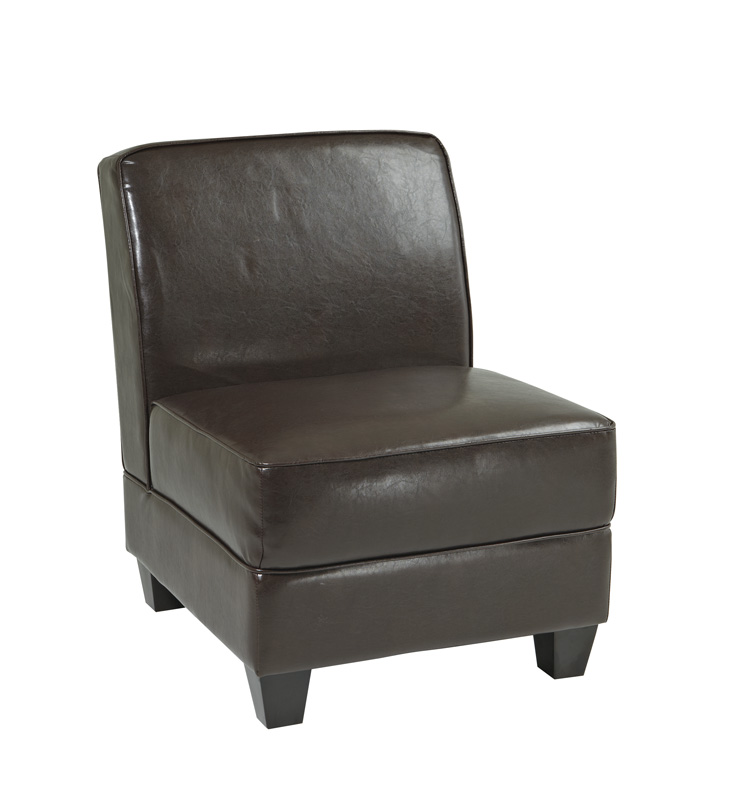 Avenue Six Milan Chair - Espresso Bonded Leather