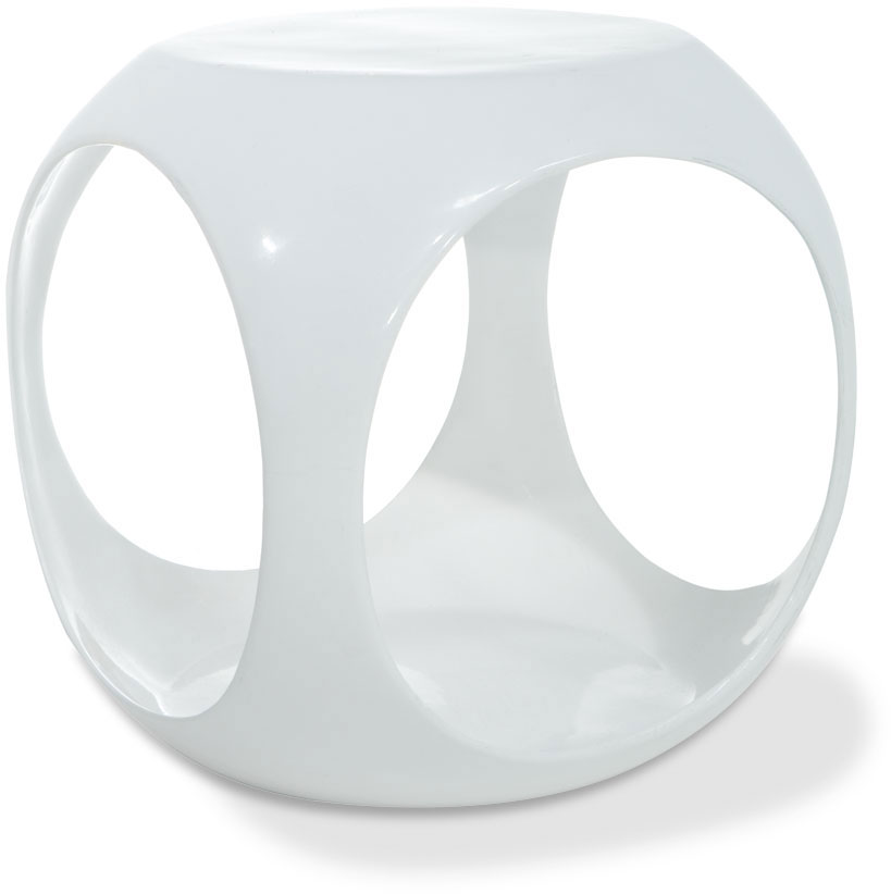 Avenue Six Slick Cube Table - White