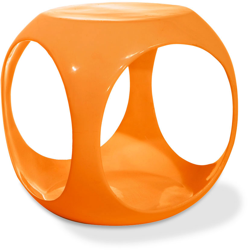 Avenue Six Slick Cube Table - Orange