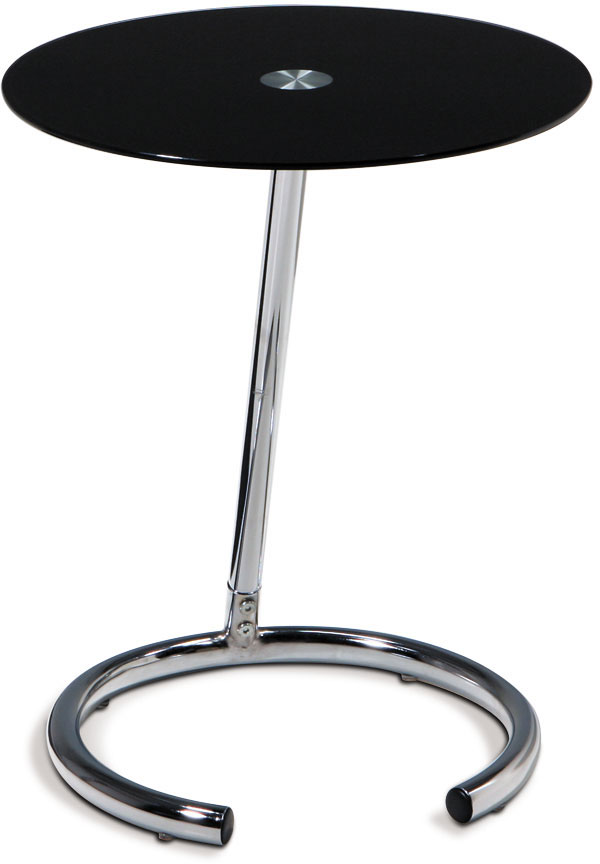 Avenue Six Yield Telephone Table - Black Glass