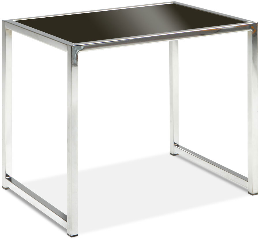 Avenue Six Yield End Table - Black Glass