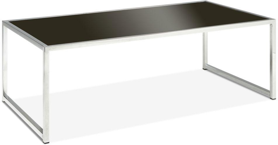 Avenue Six Yield Coffee Table - Black Glass