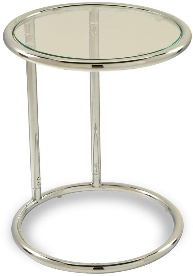 Avenue Six Yield Circle Glass Table.