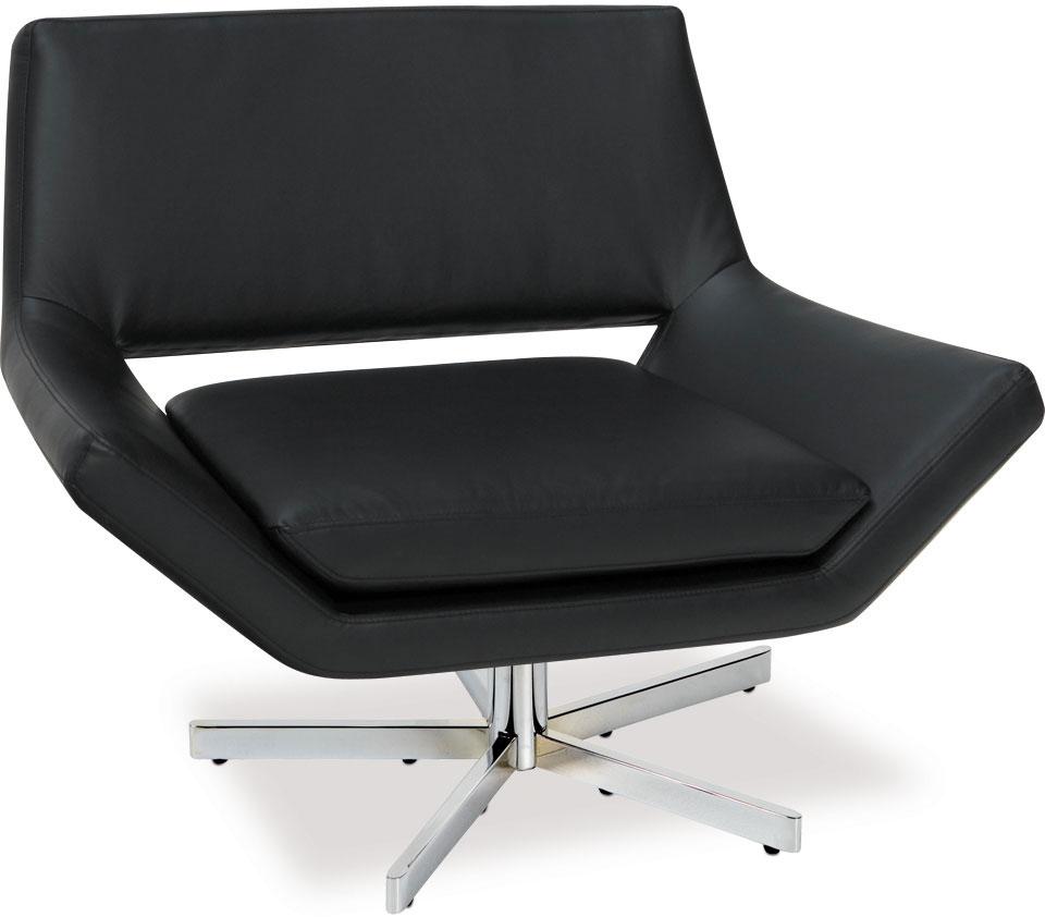 Avenue Six Yield 40in Wide Chair - Black Vinyl