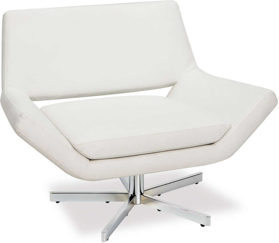 Avenue Six Yield 40in Wide Chair - White Vinyl