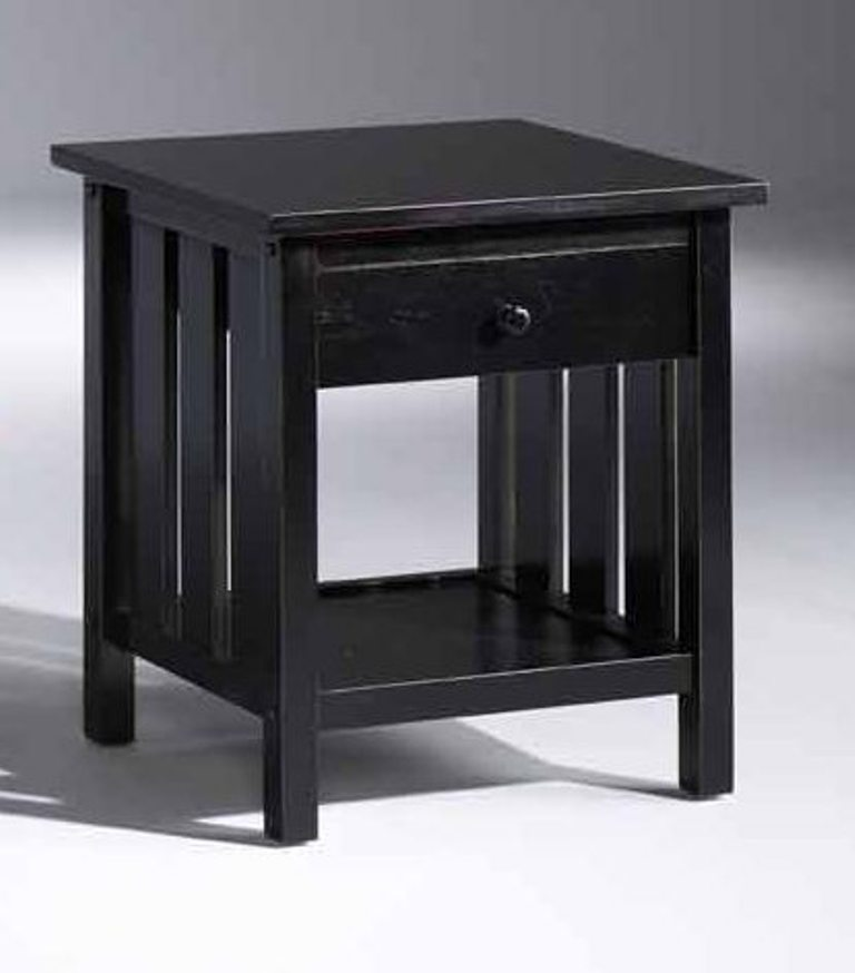 Fashion Bed Group Attwood Nightstand in Distressed Black