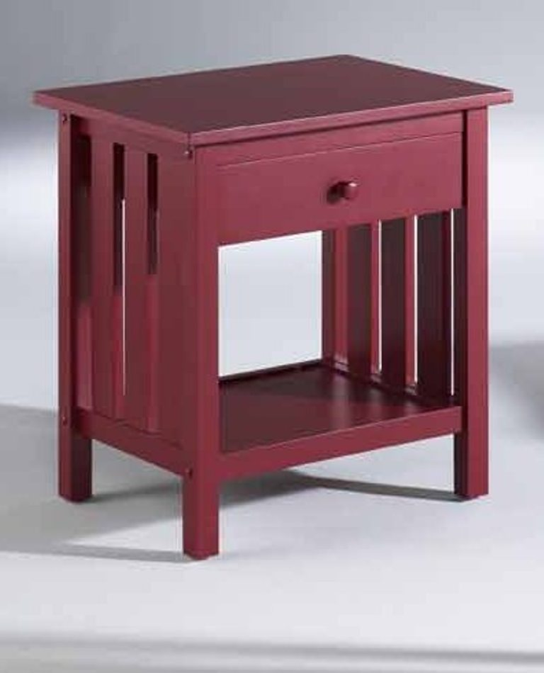 Fashion Bed Group Attwood Nightstand in Red