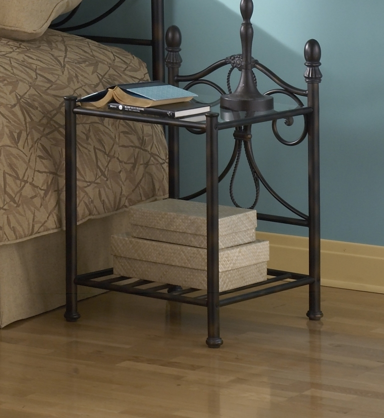Fashion Bed Group Aynsley Nightstand in Gold Frost