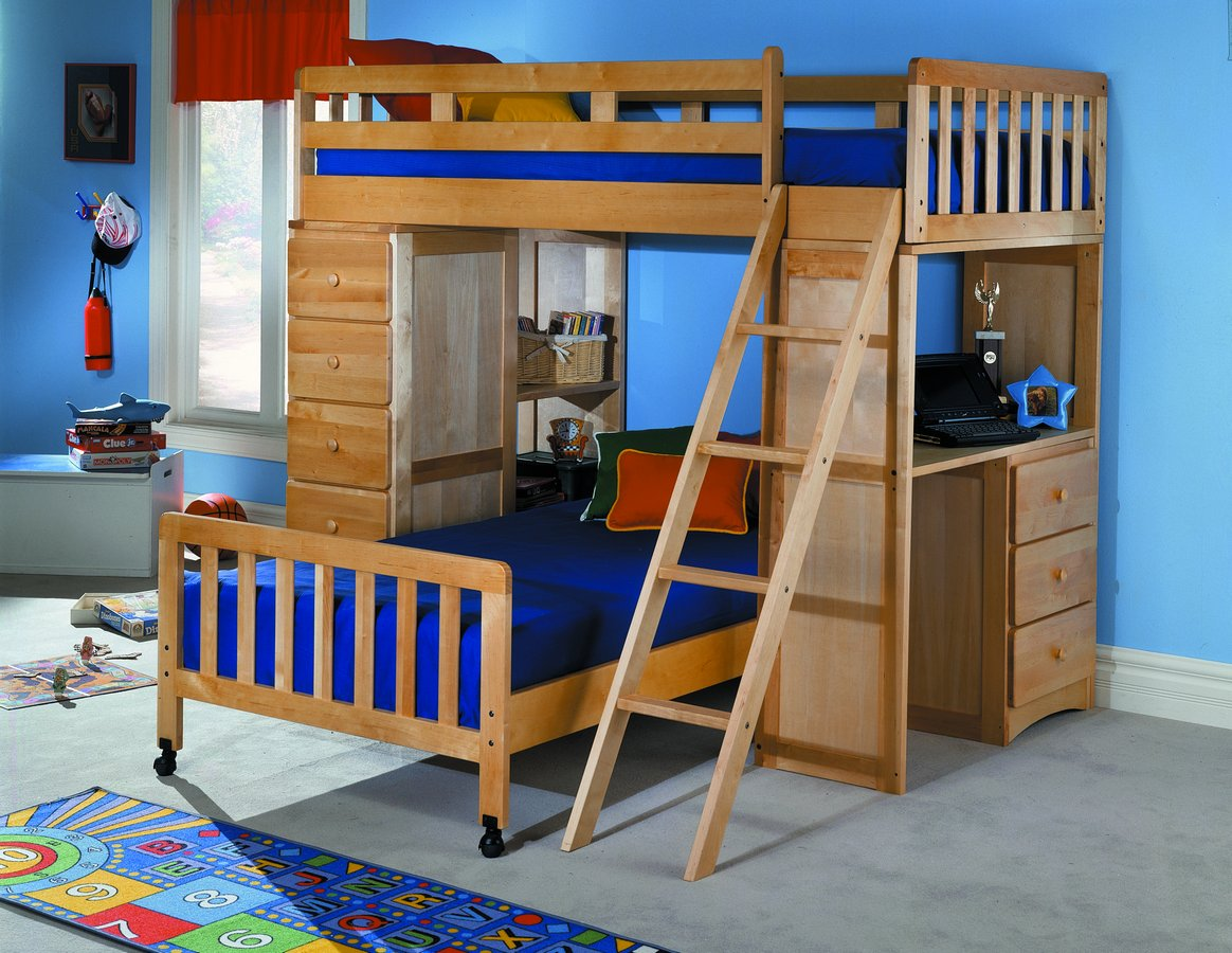 Homelegance Solid Birch Loft Bed B17 At Homelement Com