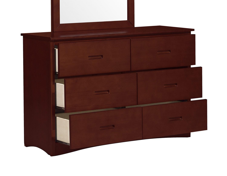 Homelegance Rowe Dresser - Dark Cherry