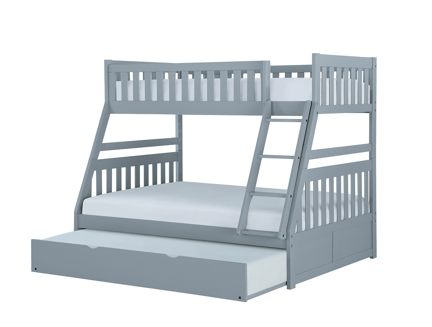 Homelegance Orion Twin Over Full Bunk Bed - Gray
