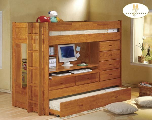 Homelegance All In One Bunk Bed and Workstation