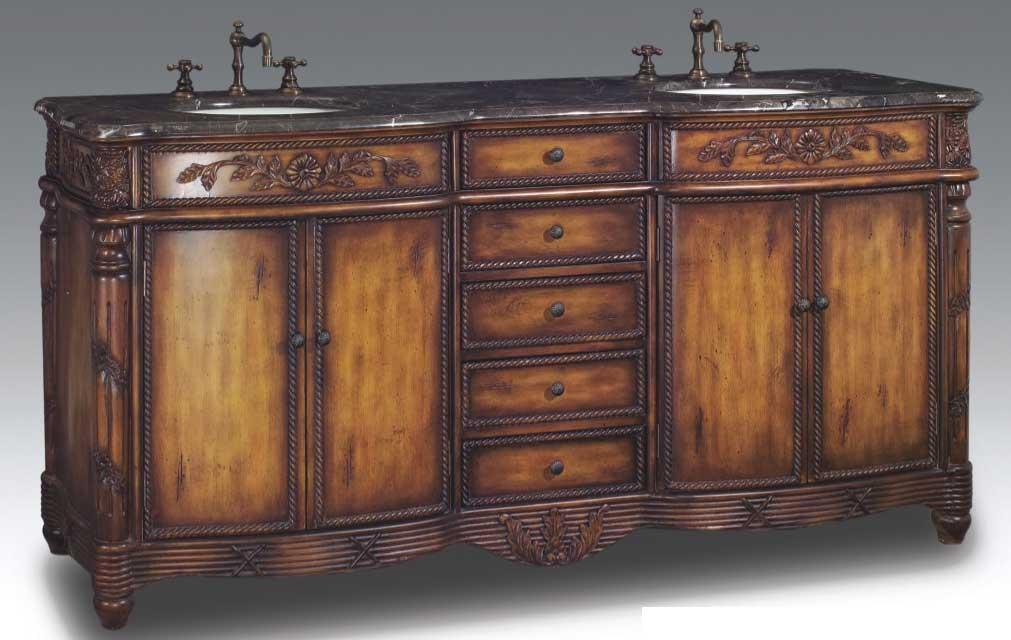 DragonWood Vanity with sink-Dragon Wood