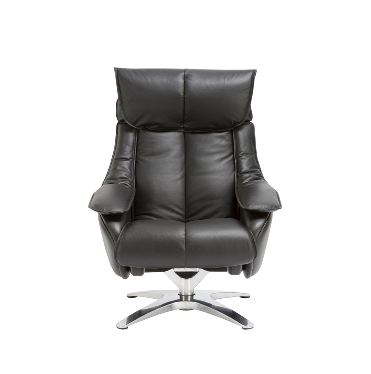Barcalounger Eton Pedestal Recliner Chair with Adjustable Head Rest and Adjustable Ottoman - Capri Black/leather match