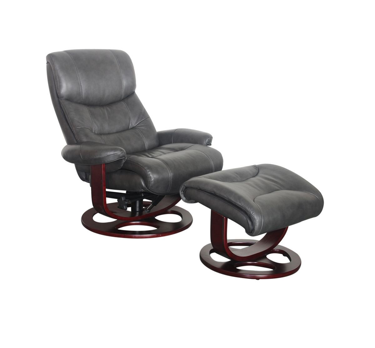 Tremendous Barcalounger Dawson Pedestal Recliner Chair And Ottoman Chelsea Graphite Leather Match Pdpeps Interior Chair Design Pdpepsorg
