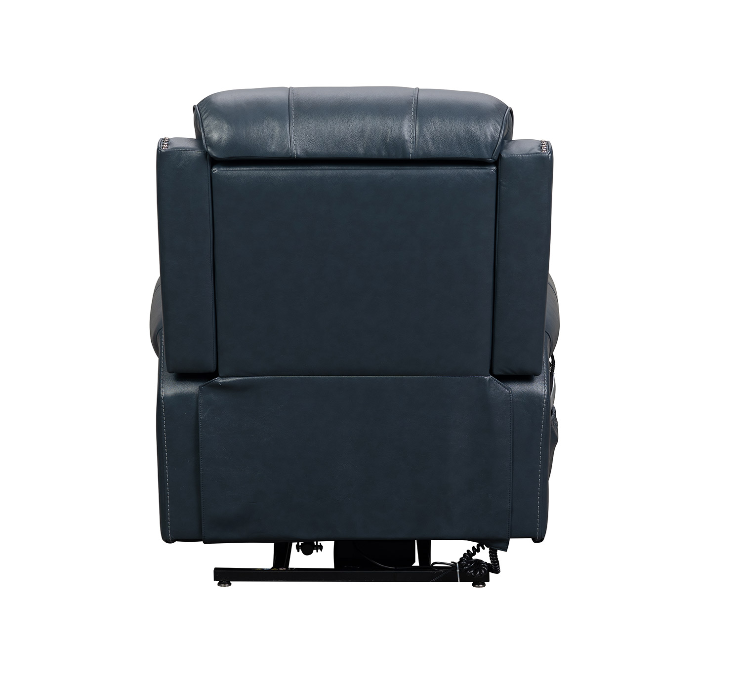 Barcalounger Langston Lift Chair Recliner with Power Head Rest and Lumbar - Venzia Blue/Leather Match