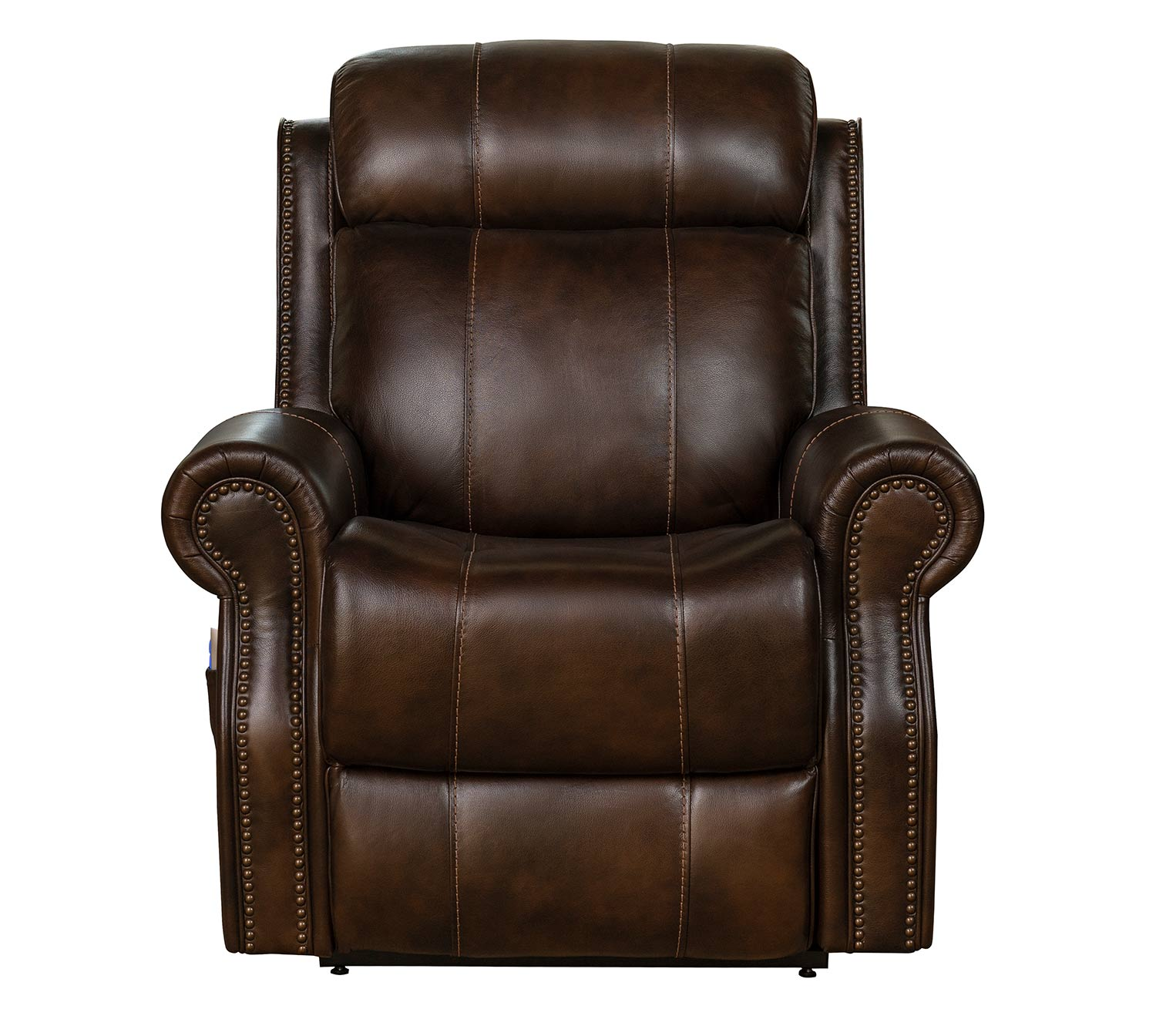 Barcalounger Langston Lift Chair Recliner with Power Head Rest and Lumbar - Tonya Brown/Leather Match