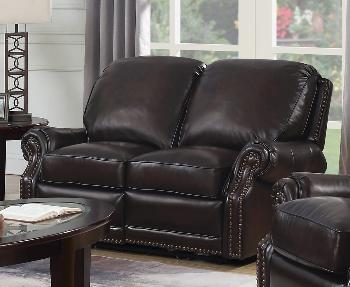 Barcalounger Premier Power Reclining Loveseat - Stetson Coffee/All Leather