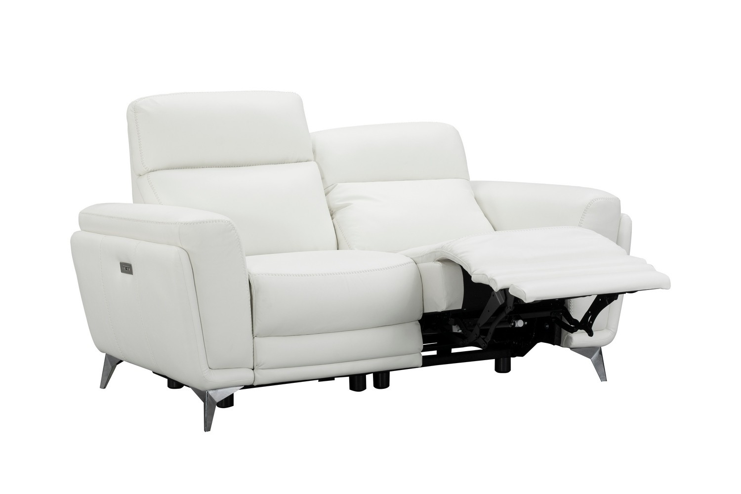 Barcalounger Cameron Power Reclining Loveseat with Power Head Rests - Enzo Winter White/Leather Match