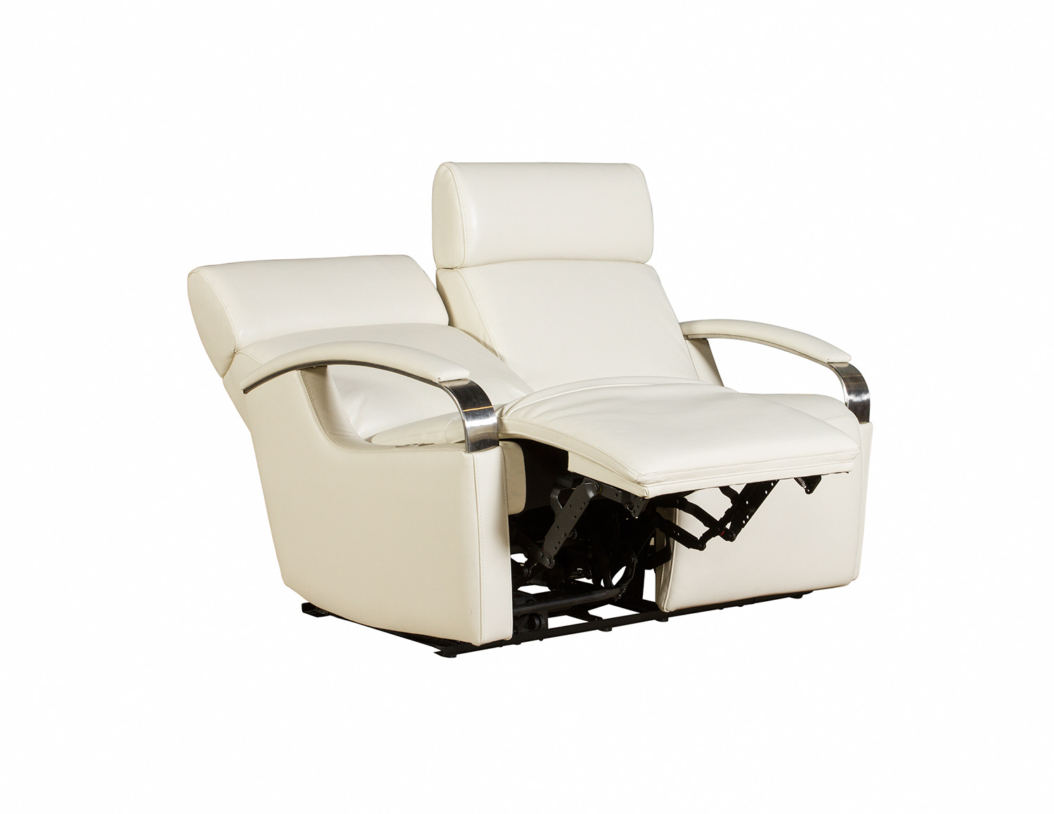 Barcalounger Cosmo Power Reclining Loveseat with Power Head Rests - Cashmere White/Leather Match