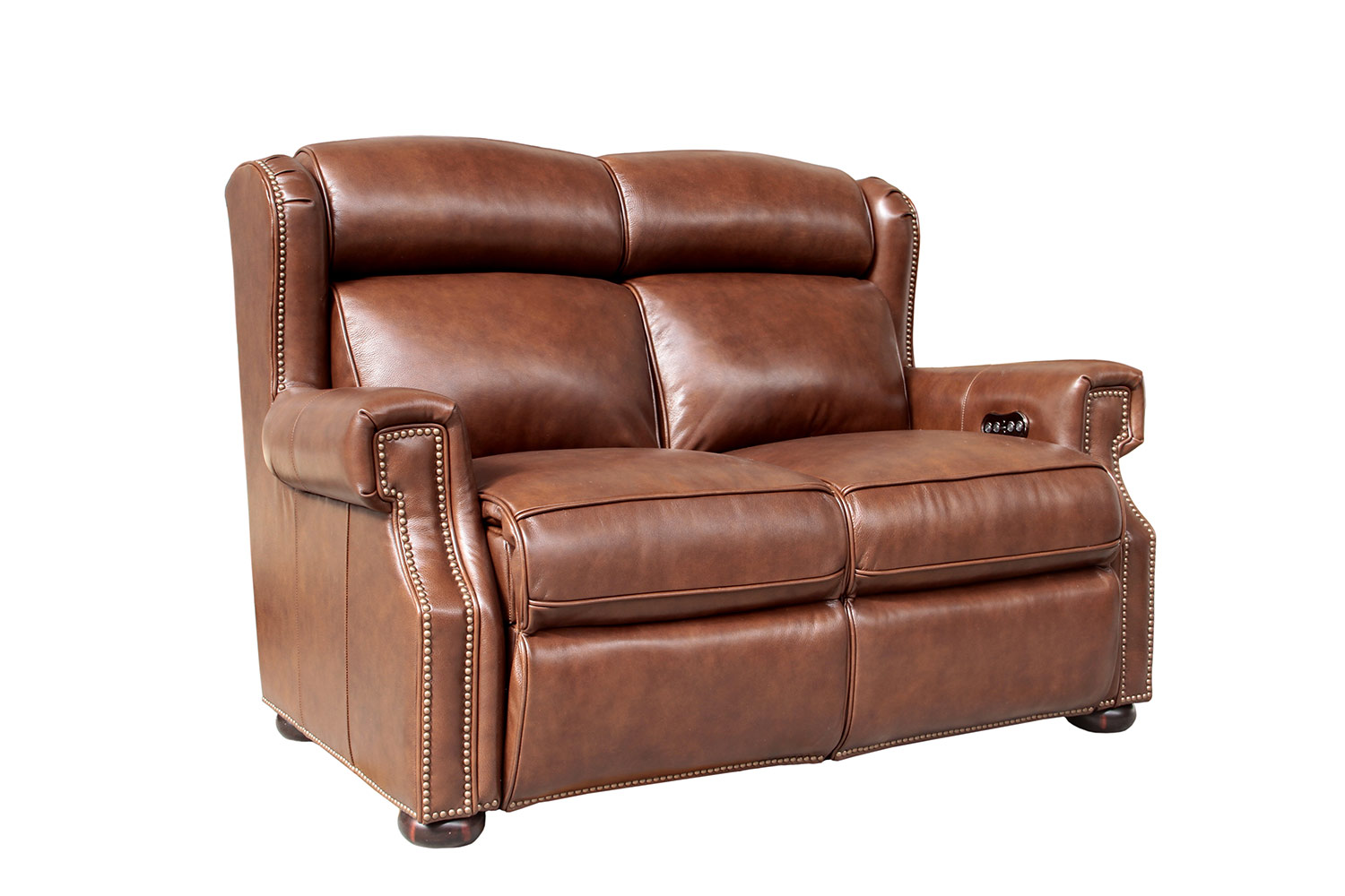 Barcalounger Benwick Power Reclining Loveseat with Power Head Rests - Shoreham Chocolate/All Leather