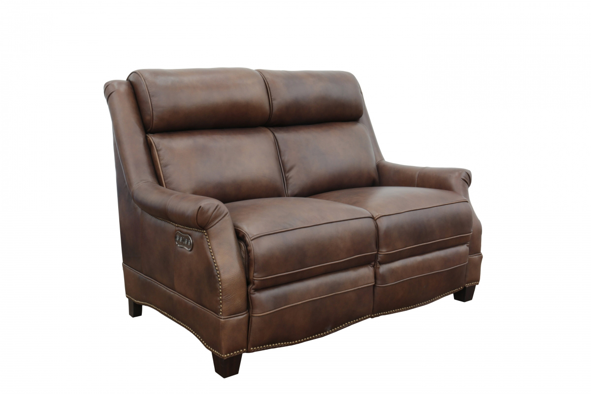 Barcalounger Warrendale Power Reclining Loveseat with Power Head Rests - Worthington Cognac/All Leather