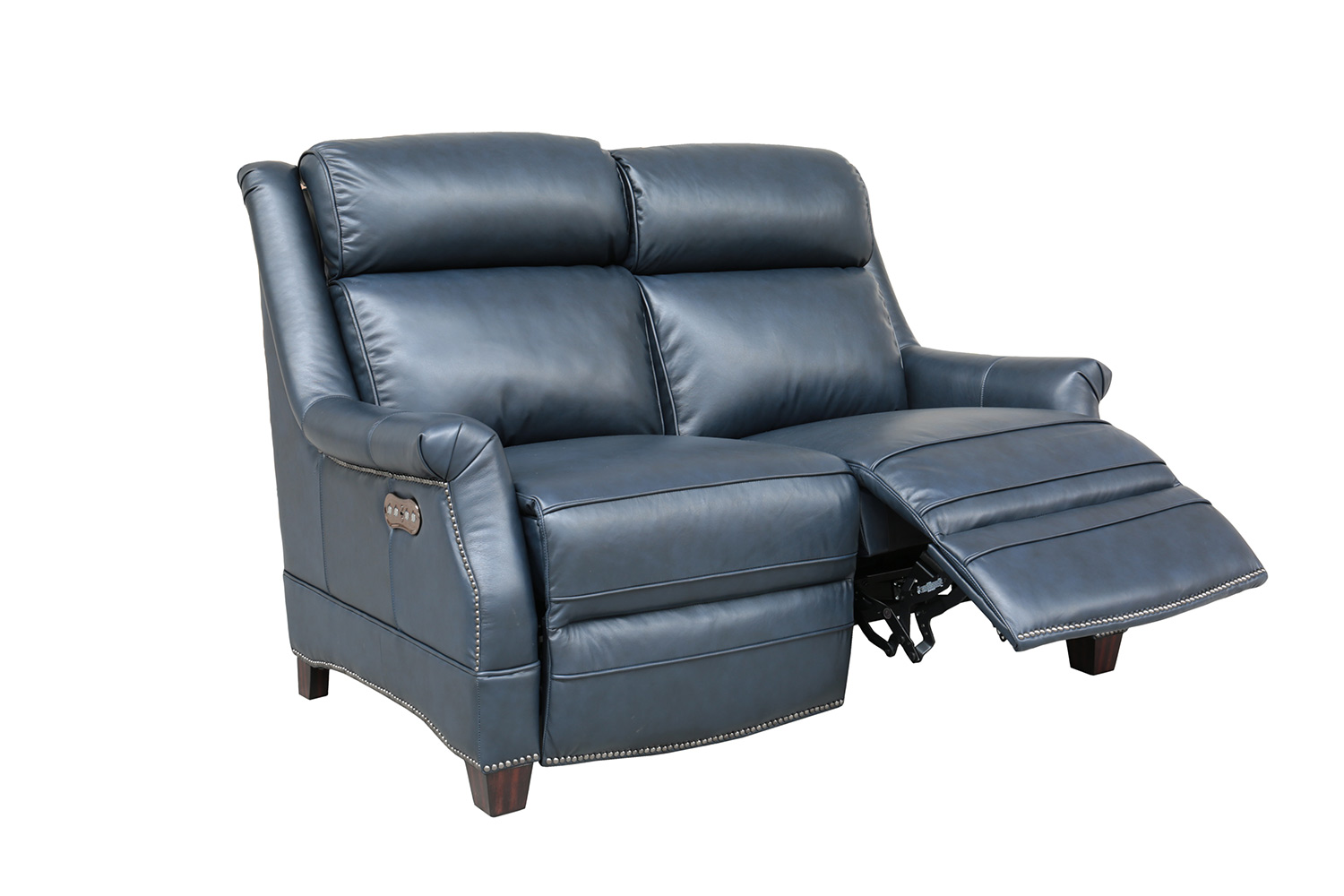Barcalounger Warrendale Power Reclining Loveseat with Power Head Rests - Shoreham Blue/All Leather