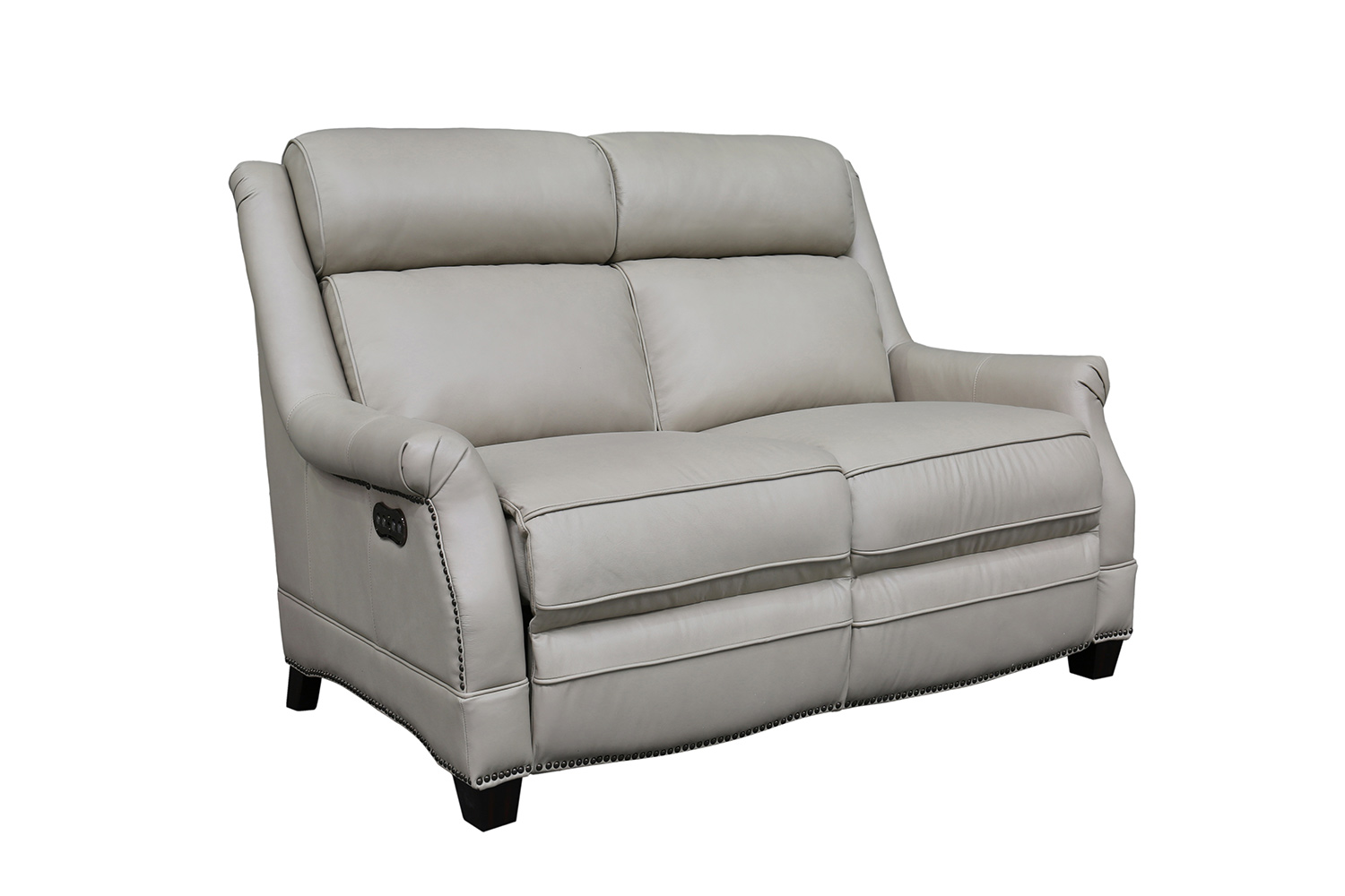 Barcalounger Warrendale Power Reclining Loveseat with Power Head Rests - Shoreham Cream/All Leather