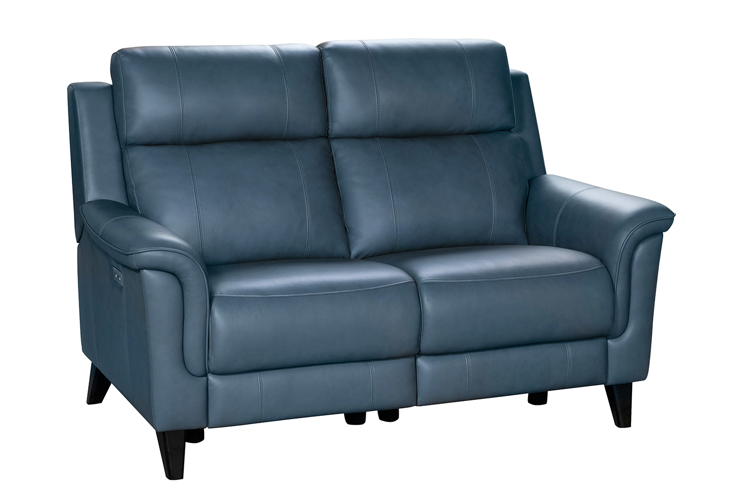 Barcalounger Kester Power Reclining Loveseat with Power Head Rests - Masen Bluegray/Leather match