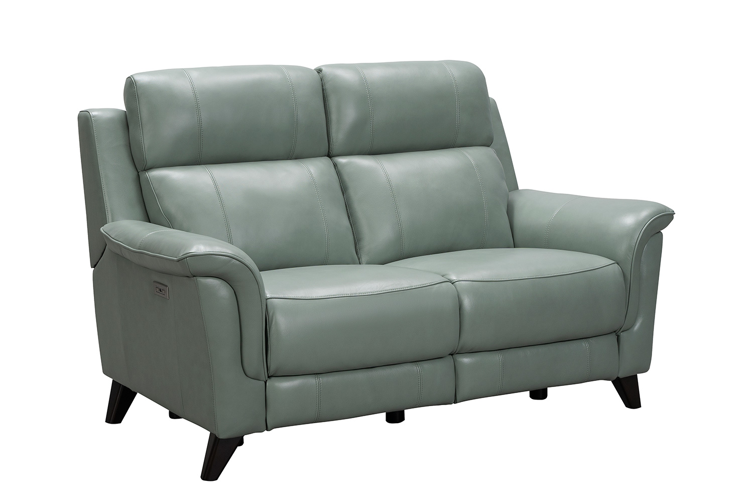 Barcalounger Kester Power Reclining Loveseat with Power Head Rests - Lorenzo Mint/Leather match