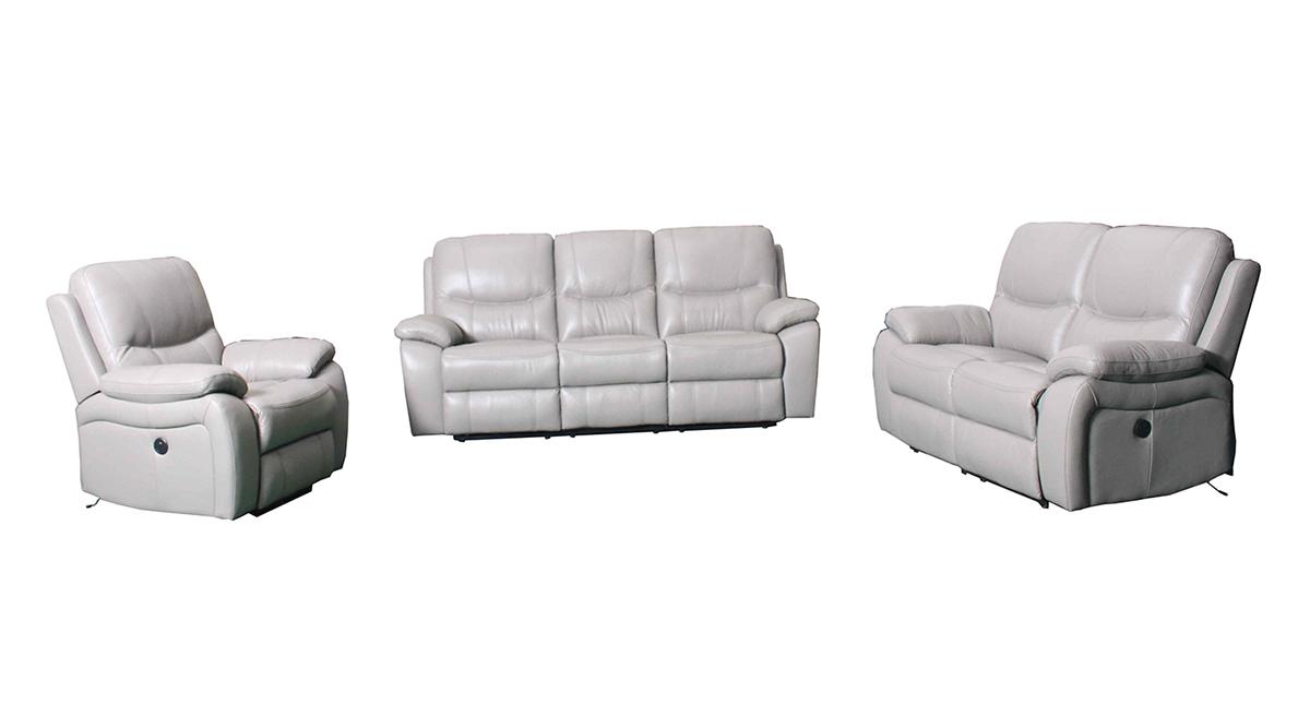 Barcalounger Laguna Reclining Sofa Set Cashmere White Leather Match
