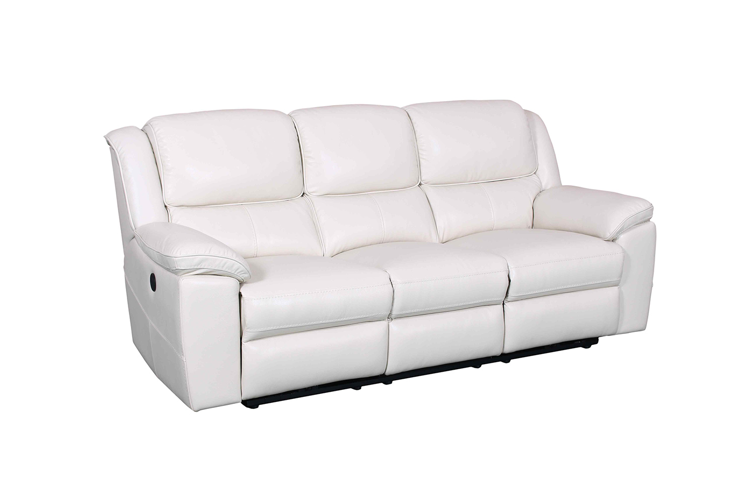 Barcalounger Laguna Power Reclining Sofa - Cashmere White/Leather Match