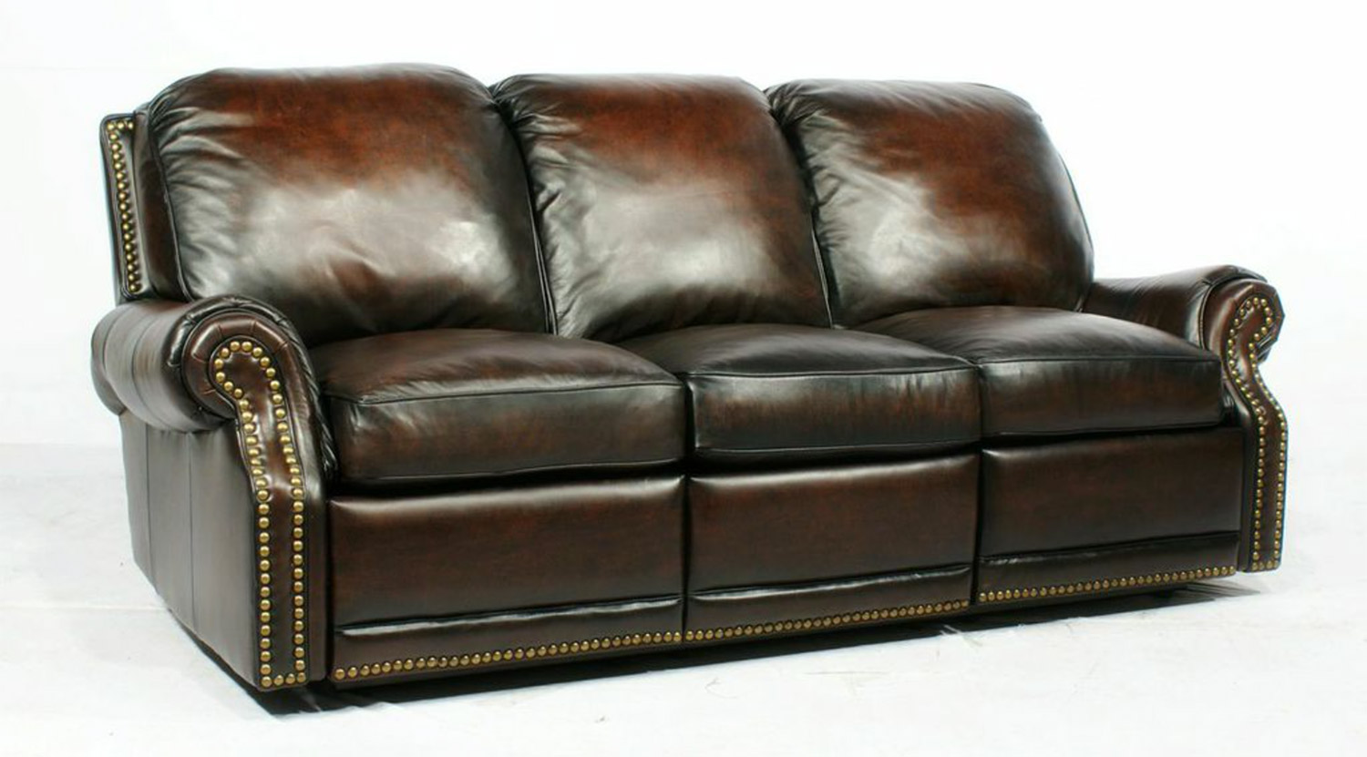 Barcalounger Premier Power Reclining Sofa - Stetson Coffee/All Leather