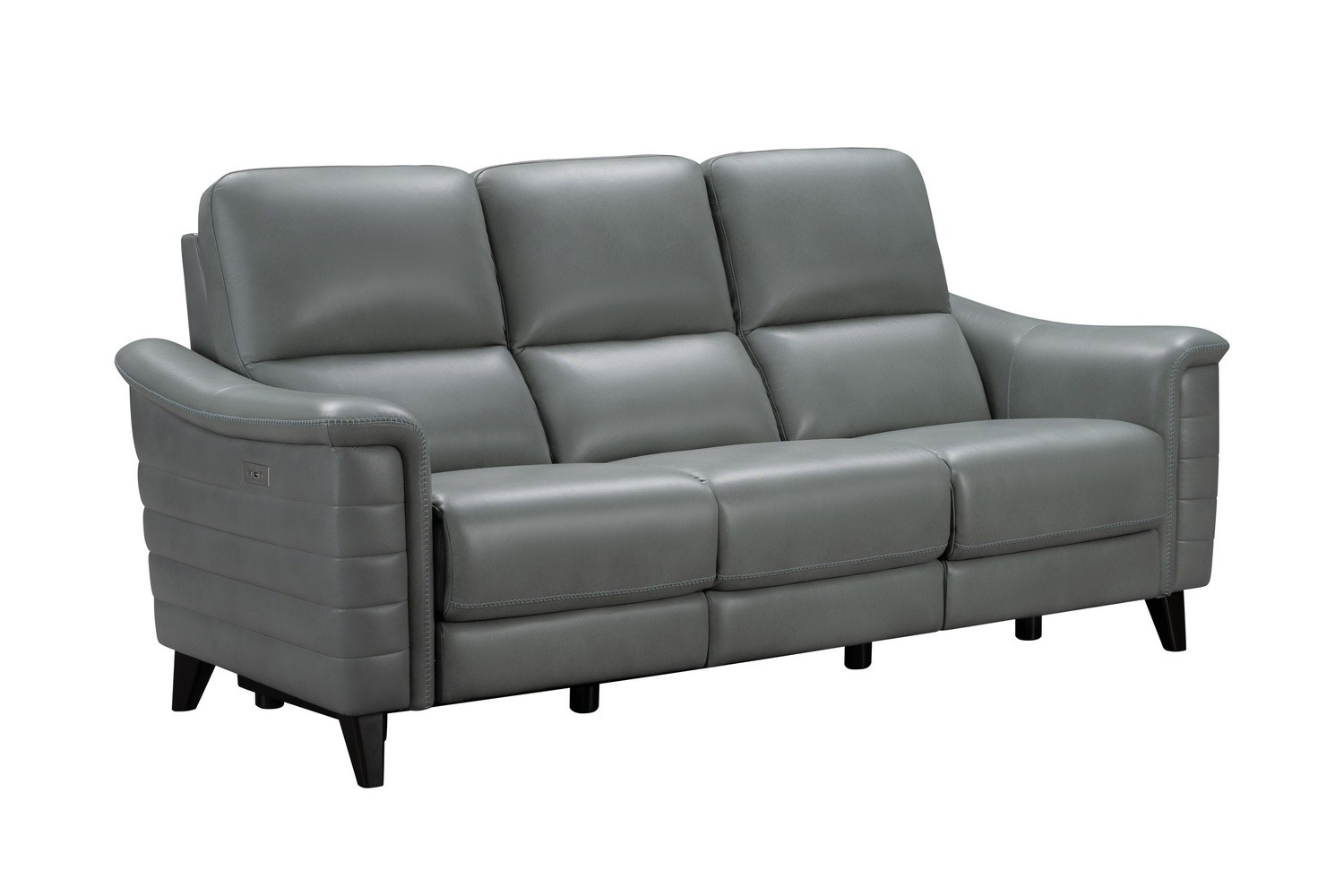 Barcalounger Malone Power Reclining Sofa with Power Head Rests - Antonio Green Gray/Leather Match