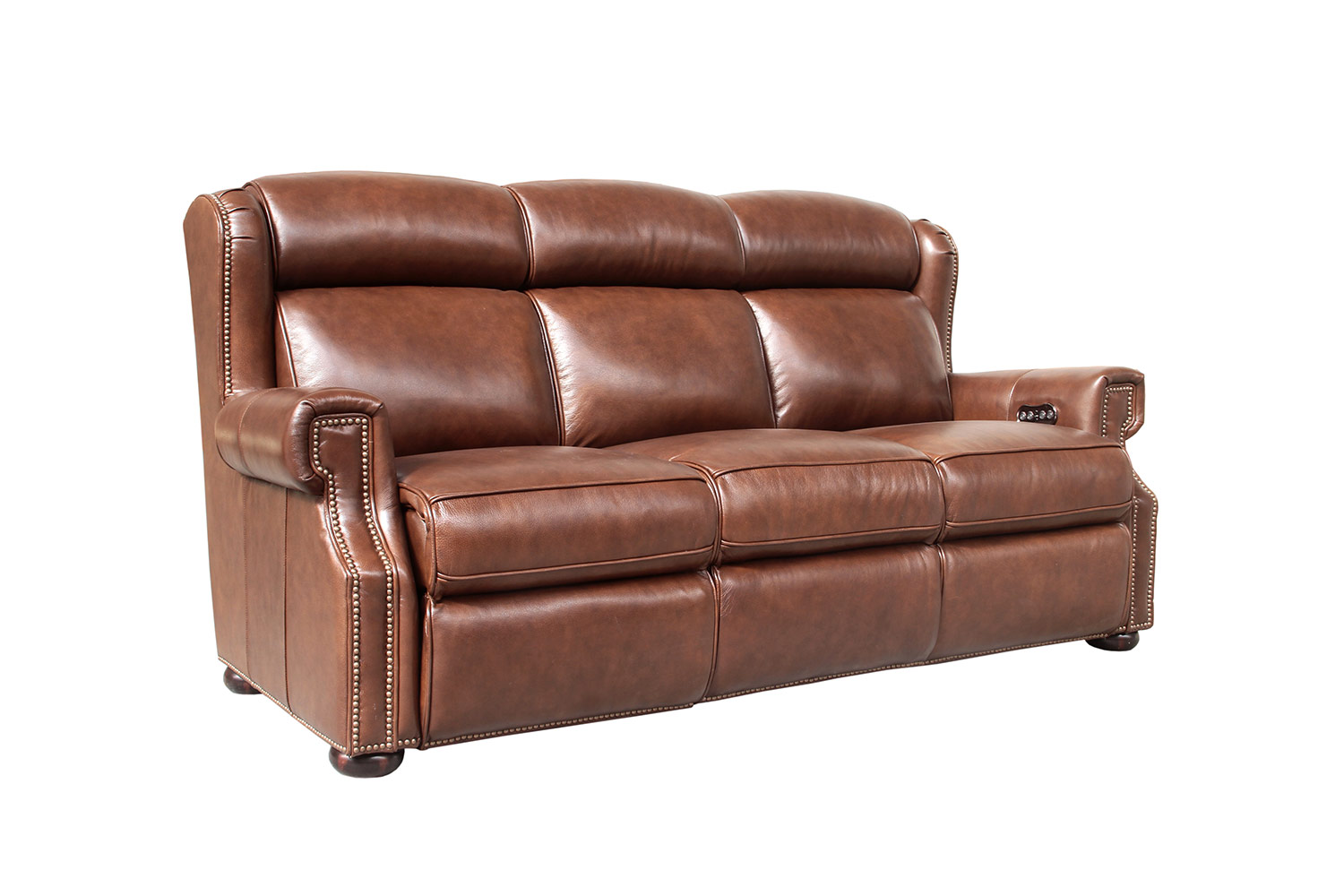 Barcalounger Benwick Power Reclining Sofa with Power Head Rests - Shoreham Chocolate/All Leather