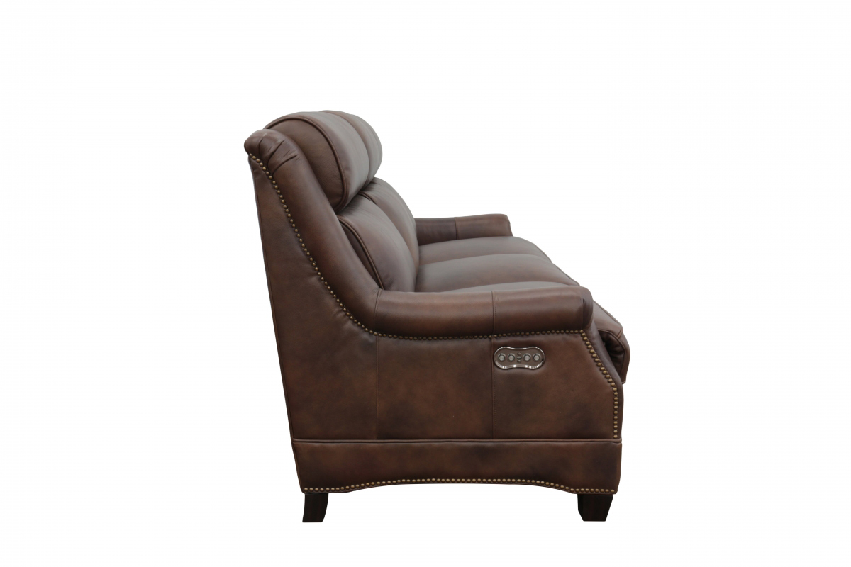 Barcalounger Warrendale Power Reclining Sofa with Power Head Rests - Worthington Cognac/All Leather