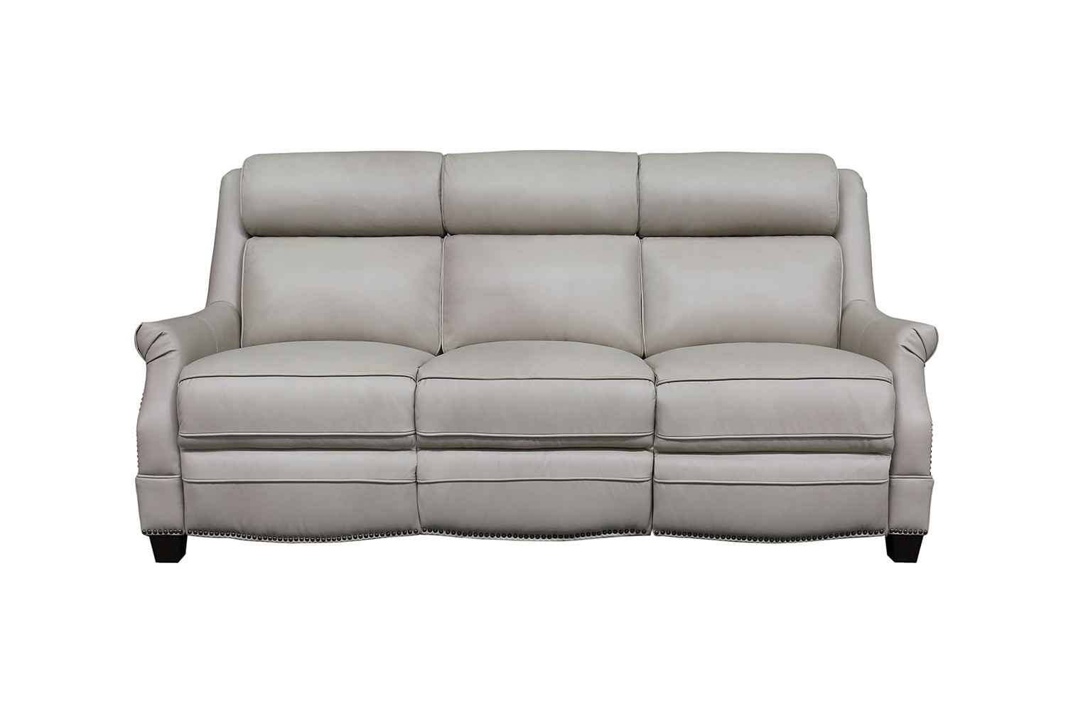 Barcalounger Warrendale Power Reclining Sofa with Power Head Rests - Shoreham Cream/All Leather