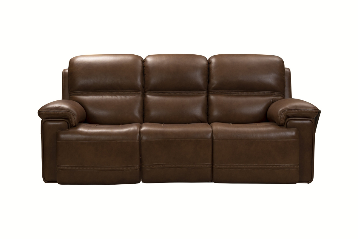 Barcalounger Sedrick Power Reclining Sofa with Power Head Rests - Spence Caramel/Leather Match