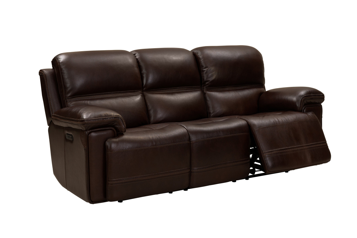 Barcalounger Sedrick Power Reclining Sofa with Power Head Rests - El Paso Walnut/Leather Match