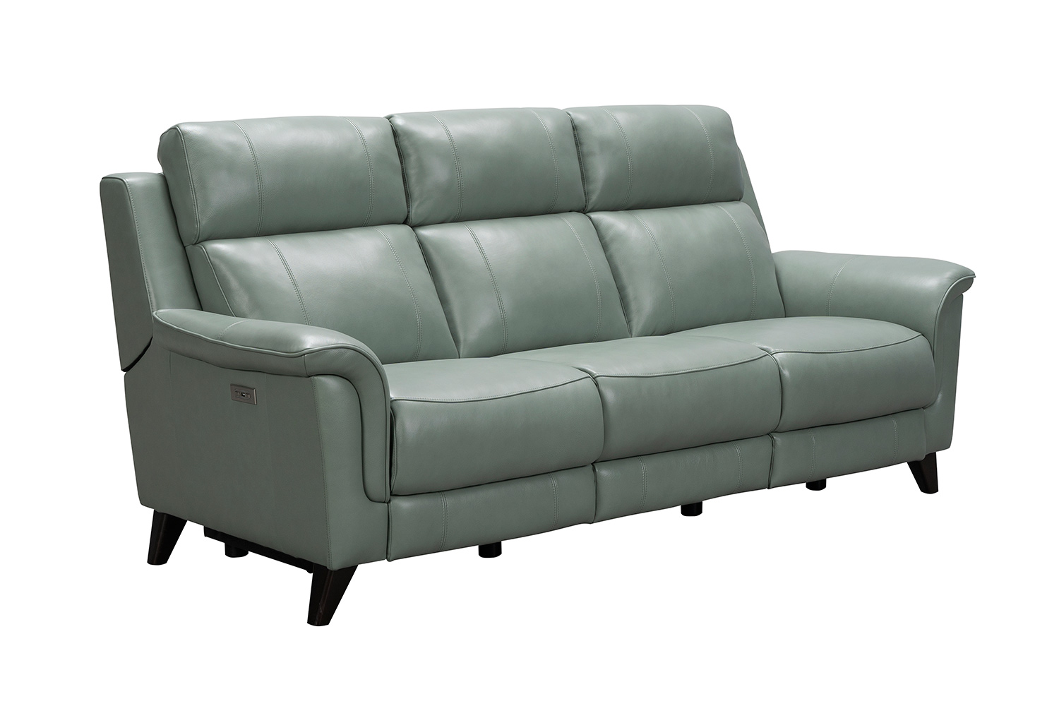 Barcalounger Kester Power Reclining Sofa with Power Head Rests - Lorenzo Mint/Leather match