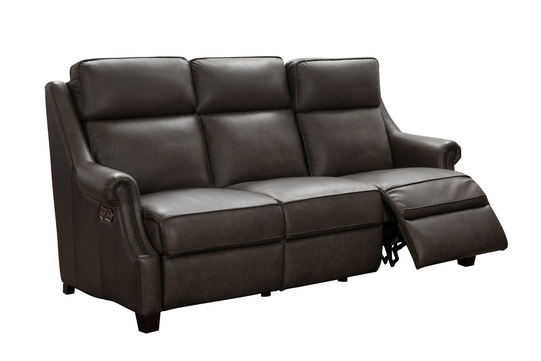 Barcalounger Oliva Power Reclining Sofa with Power Head Rests - Bennington Hazelnut/All Leather