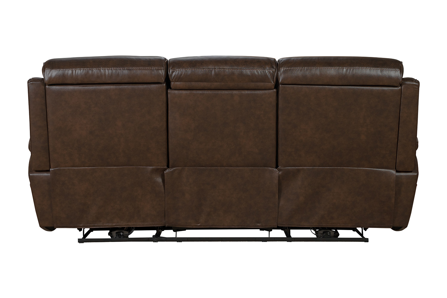 Barcalounger Sandover Power Reclining Sofa with Power Head Rests and Lumbar - Tri-Tone Chocolate/Leather match