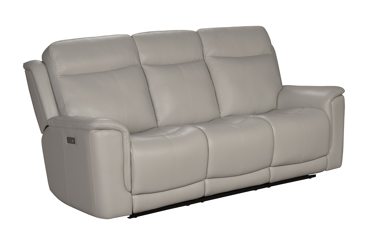 Barcalounger Burbank Power Reclining Sofa with Power Head Rests and Lumbar - Laurel Cream/Leather match
